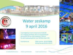 Zaterdag 9 april is er een Water zes kamp.   Inschrijven kan nog steeds